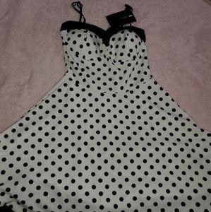 Polka a dot mini dress